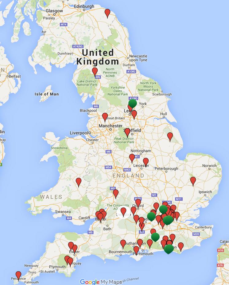 Woman Within UK Circle Map